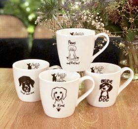 Porcelain Mugs – set of 4