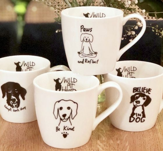 Porcelain Mugs – set of 4