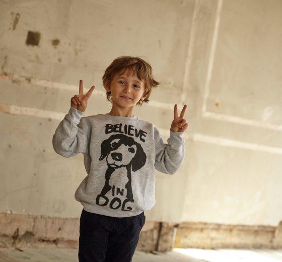 Kids: Believe in Dog Sweatshirt